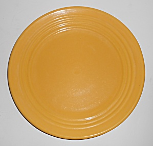 "Bauer Pottery Ring Ware Yellow 9.5"" Plate #7"