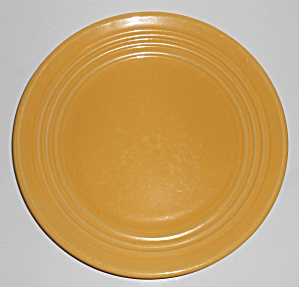 "Bauer Pottery Ring Ware Yellow 9.5"" Plate #8"