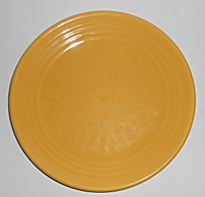 "Bauer Pottery Ring Ware Yellow 9.5"" Plate #10"
