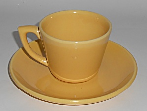 Bauer Pottery La Linda Yellow Cup & Saucer Set