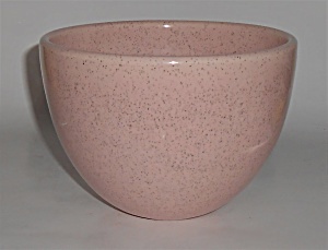 Bauer Pottery Pink Speckle Dome Flower Pot