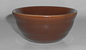 Bauer Pottery Gloss Pastel Kitchenware Dk Brown Ramekin