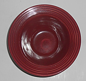 Bauer Pottery Monterey Burgundy Large Fruit Bowl