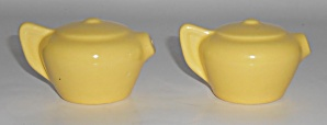 Franciscan Pottery Sperry Flour Yellow Teapot Salt/pepp