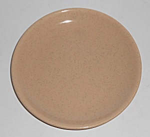 Bauer Pottery Monterey Moderne Tan Speckle Bread Plate (Image1)