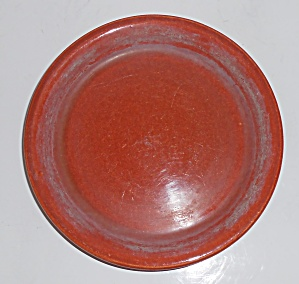 Bauer Pottery #5 Red/brown Spanish Flower Pot Saucer