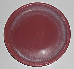 Bauer Pottery #6 Burgundy Spanish Flower Pot Saucer (Image1)