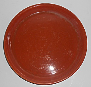 Bauer Pottery #8 Red/brown Spanish Flower Pot Saucer