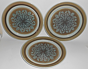 Franciscan Pottery Nut Tree Set/3 Dinner Plates