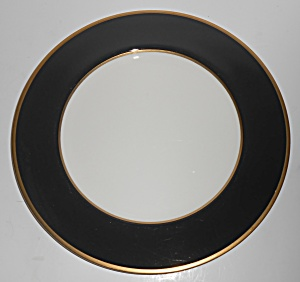 Mikasa Fine China Black Onyx W/gold Dinner Plate