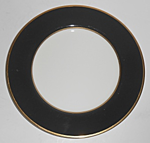 Mikasa Fine China Black Onyx W/gold Salad Plate