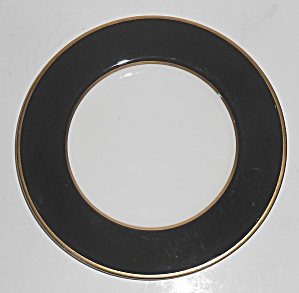 Mikasa Fine China Black Onyx W/gold Bread Plate