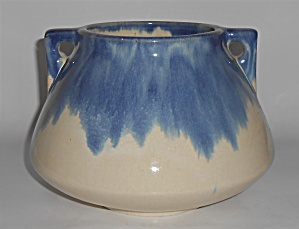 Muncie Pottery Large Blue Over White #182 Vase