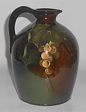 Owens Art Pottery Lightweight Frank Ferrell Grape Decor