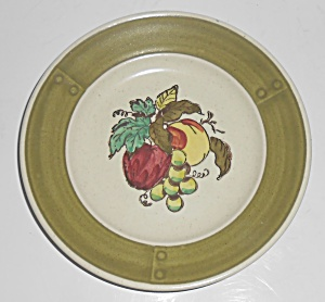 Metlox Poppy Trail Pottery Provincial Fruit Bread Plate