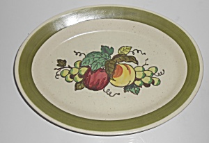 Metlox Poppy Trail Pottery Provincial Fruit Platter