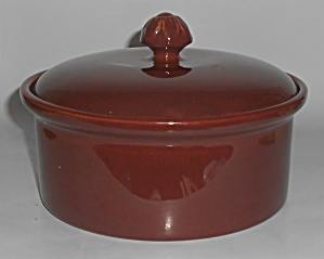 Franciscan Pottery Nasco C-47 Redwood Gloss Casserole w (Image1)