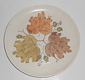 Metlox Pottery Woodland Gold Salad Plate