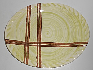 Blue Ridge Southern Pottery Piedmont Plaid Platter