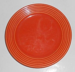 Bauer Pottery Monterey Ring Orange Bread Plate
