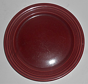 Bauer Pottery Monterey Ring Burgundy 8-1/8'' Plate