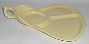 Coors Pottery Mello-Tone Yellow Hostess/Party Plate (Image1)