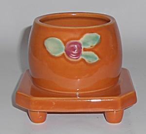 Coors Pottery Rosebud Orange Honeypot Robert Schneider  (Image1)