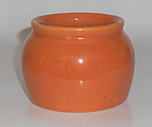 Coors Pottery Rosebud Orange D & F Bean Pot Robert Schn