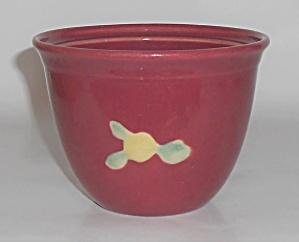 Coors Pottery Rosebud Red Small Bean Pot Robert Schneid