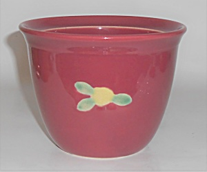 Coors Pottery Rosebud Red Large Bean Pot Robert Schneid