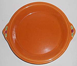 Coors Pottery Rosebud Orange Pie Plate Robert Schneider (Image1)