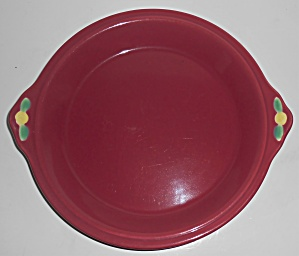 Coors Pottery Rosebud Red Pie Plate Robert Schneider Co