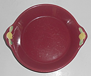 Coors Pottery Rosebud Red Shirred Egg Bowl Robert Schne