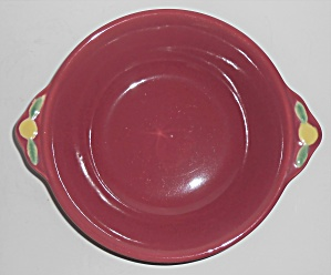 Coors Pottery Rosebud Red Vegetable Bowl Robert Schneid
