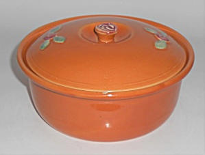 Coors Pottery Rosebud Orange 2 Pt Straight Casserole Ro