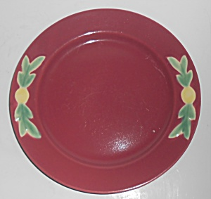 Coors Pottery Rosebud Red 8'' Plate Robert Schneider Co