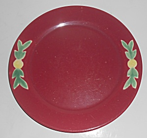 Coors Pottery Rosebud Red 9'' Plate Robert Schneider Co