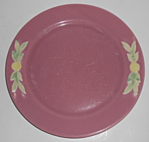 Coors Pottery Rosebud Early Red 9'' Plate Robert Schnei