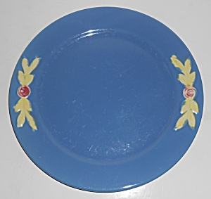 Coors Pottery Rosebud Early Blue 9'' Plate Robert Schne