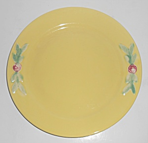 Coors Pottery Rosebud Early Yellow 9'' Plate Robert Sch