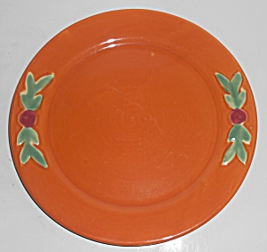 Coors Pottery Rosebud Orange 9'' Plate Robert Schneider