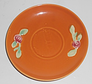 Coors Pottery Rosebud Orange Saucer Robert Schneider Co