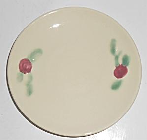 Coors Pottery Rosebud White Saucer Robert Schneider Col (Image1)