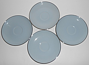 Franciscan Pottery Fine China Twilight Set/4 Saucers (Image1)