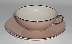 Franciscan Pottery Fine China Sandalwood Cup & Saucer