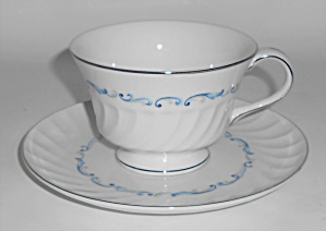 Celebrity Porcelain China Evening Tide Platinum Cup & S