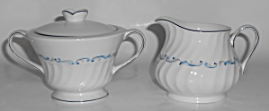 Celebrity Porcelain China Evening Tide Platinum Creamer
