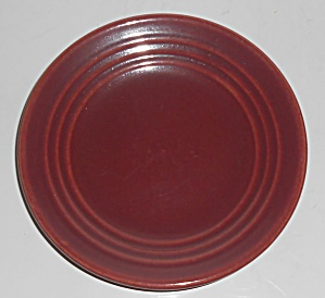 Bauer Pottery Ring Ware Burgundy Bread Plate (Image1)