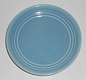 Bauer Pottery Ring Ware Lt Blue Bread Plate 3rd Period