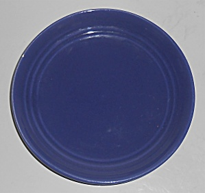 Bauer Pottery Ring Ware Cobalt Bread Plate - 3rd Period